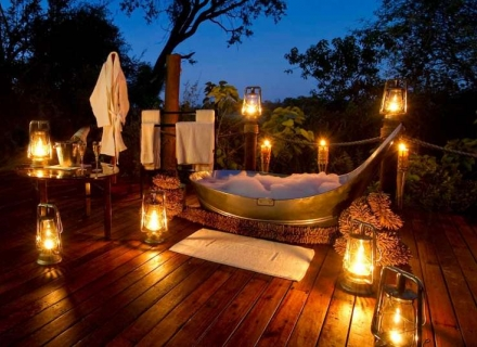 Romantic African Safari Baths